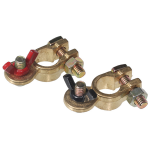 Battery Post Connector Clamps - Wing Nut