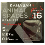 Kamasan X-Strong Animal Spade Hooks to Nylon - Barbless
