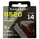 Kamasan B520 Whisker Hook to Nylon -  Barbed