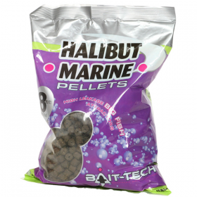 Bait-Tech Pre-Drilled Halibut Marine Pellets 900g