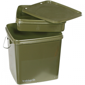 Trakker 13 Litre Green Square Bucket with Removable Tray