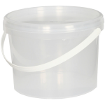 Tackle Box 3 Litre Clear Plastic Bait Bucket