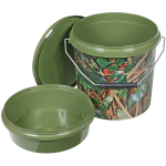 5 Litre Ivy Camo Plastic Bait Bucket With Tray