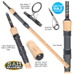 Tackle Box CF-X Black Edition 1-Piece Tree Rod 6ft 3lb