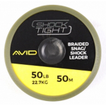 Avid Carp Shock Tight Braided Snag/Shock Leader 50lb 50m