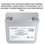 Baruch Ultra Max Lithium 10Amp - 24V LiFePO4 Rechargeable Battery an