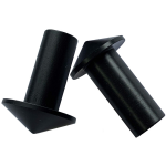 American Tackle Black Pointed Butt Cap - 19mm or 16mm Head - 9mm Ins