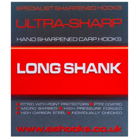Specialist Sharpened Hooks Ultra-Sharp Long Shank Hooks - Barbed
