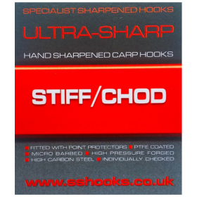 Specialist Sharpened Hooks Ultra-Sharp Stiff/Chod Hooks - Barbed
