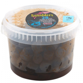 Catfish Pro Squidders Pre Drilled Glugged 28mm Halibut Pellets 1.5kg